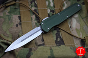 Microtech Cypher SMOOTH OD Green Body DE Stonewash Finish 242S-10 OD