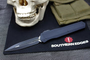 Microtech Cypher SMOOTH Body DE Black Finish with Black Hardware 242S-1 T