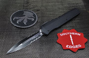 Microtech Cypher SMOOTH Body DE Black Tactical Part Serrated 242S-2T