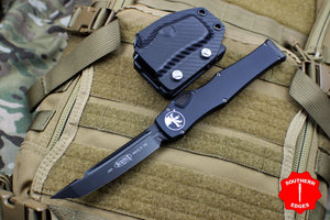 Microtech Halo VI Signature Series Tanto Edge Black Tactical with Black DLC Blade and Hardware 250-1 DLCT