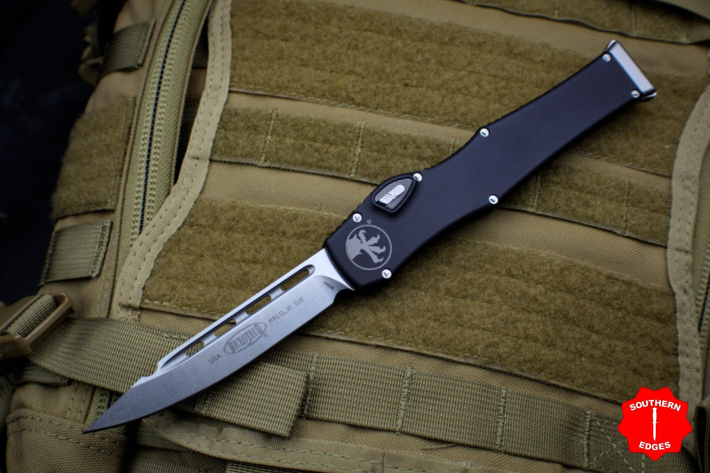 Microtech Halo VI Single Edge Stonewash Blade Finish 251-10