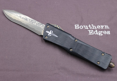 Marfione Custom Combat Troodon Recurve Damascus Blade and Brass-Ringed HW 319-MCK DABR