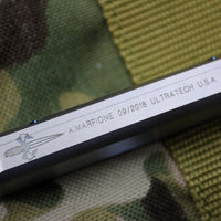 Marfione Custom Stainless Steel Ultratech OTF Double Edge Mirror Blade