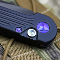 Marfione Custom LUDT with Compound Ground DLC/Apocalyptic Blade Abalone Inlaid Button and Purple Haze HW 335-MCK DLCAPABPH