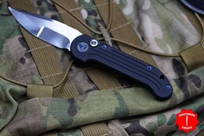 Marfione Custom LUDT with Compound Ground Mirror Blade Carbon Fiber Inlaid Button and Blue-Ringed HW 335-MCK HPCFBL