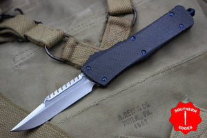 Marfione Custom Combat Troodon Interceptor Stonewash Carbon Fiber Button Blue-Ringed HW 339-MCK SWCFCFBR