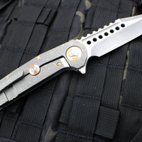 Marfione Custom Warhound Folder Apocalyptic Blade and Handle Copper Hardware 391-MCK APOCCU