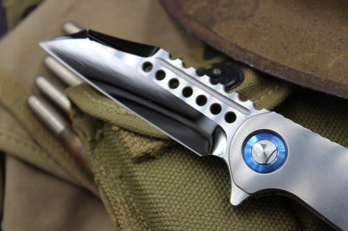 Marfione Custom Warhound Folder with Mirror Finish Serial Number 09 391-MCK HRBL