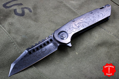 Marfione Custom Warhound Folder Ghost DLC Filigree Pattern DLC HW  391-MCK GHOST FILIGREE