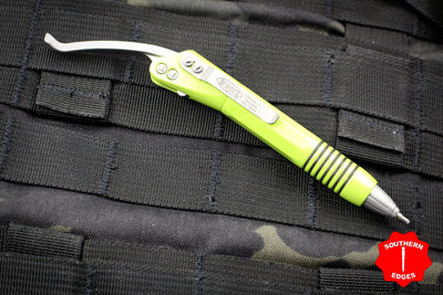 Microtech Lime Green Siphon II Stainless Steel Pen 401-SS-LG