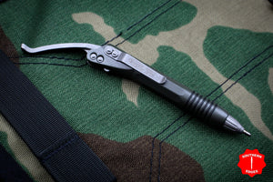 Microtech OD Green Siphon II Stainless Steel with Apocalyptic Hardware 401-SS-ODAP