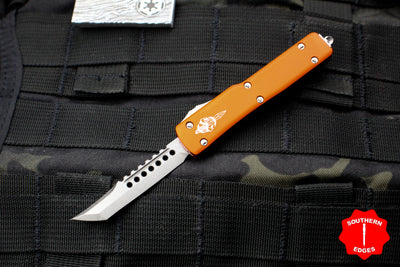 Microtech UTX-70 Orange Hellhound (OTF) Stonewash Blade 419-10 OR