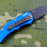 Protech Runt Blue Body Black Tanto Edge Blade Out The Side (OTS) Auto Knife 5415-BLUE