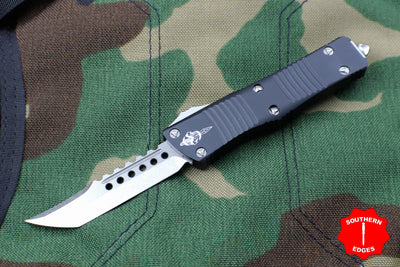 Troodon Hellhound Black Handle Stonewash Blade 619-10