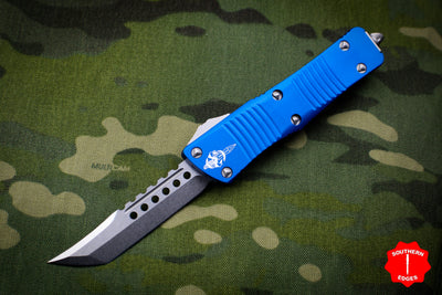 Troodon Hellhound Blue Handle Stonewash Blade 619-10 BL