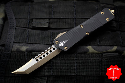 Troodon Hellhound Edge OTF Knife Black Handle Bronzed Blade 619-13
