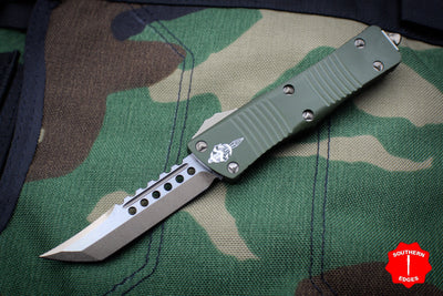 Troodon Hellhound Edge OTF Knife OD Green Handle Bronzed Blade 619-13 OD