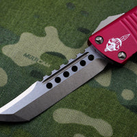 Troodon Hellhound Edge OTF Knife Red Handle Bronzed Blade 619-13 RD