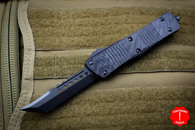 Troodon Hellhound Black Carbon Fiber Handle FULL DLC Blade With Black Hardware 619-1 DLCTCFS