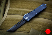 Troodon Hellhound Black Handle FULL DLC Blade With Blue Titanium Hardware 619-1 DLCTI