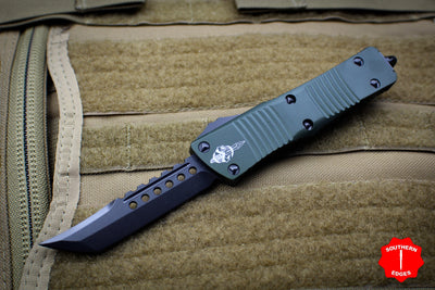 Troodon Hellhound OD Green Handle FULL DLC Blade With Black Hardware 619-1 DLCTODS