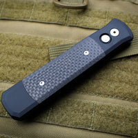 Protech Godfather Black Out The Side (OTS) Knife Carbon Fiber Inlay and Black Blade 901 BT