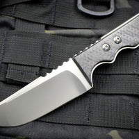 Attn2Detail Mercantile-X-tra Thick Mini Blasted Satin Drop Point Tanto W/ Carbon Fiber Handle