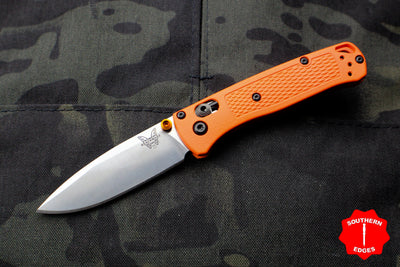 Benchmade Mini Bugout Orange Satin Drop Point Blade 533