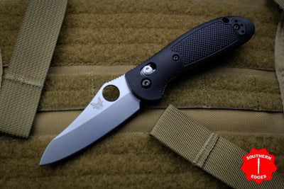 Benchmade Mini-Griptilian Satin Sheepsfoot Blade with Black Handle 555-S30V