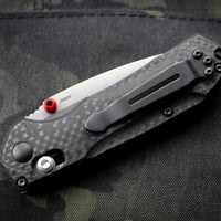 Benchmade Mini-Freek Carbon Fiber Handle with Black Stonewash Blade 565-1