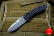 Benchmade Presidio II Black CF-Elite Handle Satin Drop Point Blade Axis Lock 970-1