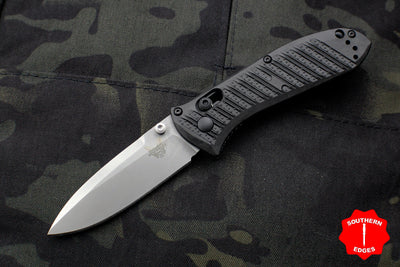 Benchmade Mini Presidio II Black CF-Elite Handle Satin Plain Edge Blade 575-1