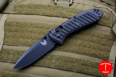 Benchmade Mini Presidio II Black CF-Elite Handle Black Plain Edge Blade 575BK-1