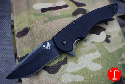 Benchmade Precinct Flipper Black Drop Point Black Body 320BK