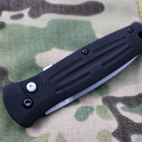 Benchmade Pardue Stimulus OTS Auto Satin Spearpoint Black Body 3551