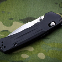 Benchmade Mini-Vallation Stonewash Drop Point Blade Black Body 427