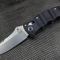 Benchmade Nakamura Satin Drop Point Blade Black G-10 Body 484