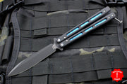 Benchmade Morpho Butterfly Balisong Black Blade and G-10 Body Blue Titanium 51BK