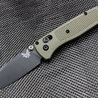 Benchmade Bugout Black Drop Point Blade Ranger Green Body 535GRY-1