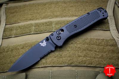 Benchmade Bugout Black CF-Elite Body Black Part Serrated Blade 535SBK-2