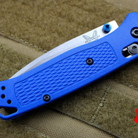 Benchmade Bugout Blue Body Satin Part Serrated Blade 535S