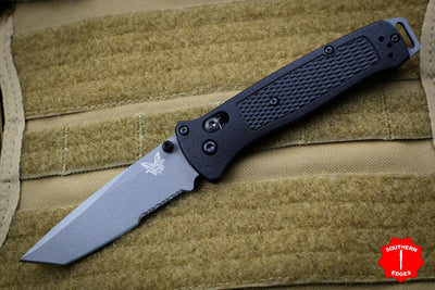 Benchmade Bailout Black Body Gray Tanto Part Serrated Edge 537SGY