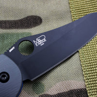 Benchmade Griptilian Black Sheepsfoot Blade With Gray and Blue Body 550BK-1