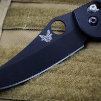Benchmade Griptilian Black Sheepsfoot Blade in S30V Steel with Black Body 550BK-S30V