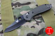 Benchmade Griptilian Black Sheepsfoot Blade With OD Green Body 550BKHGOD