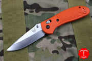 Benchmade Griptilian Satin Drop Point Blade With Orange Body 551-ORG