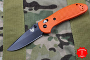 Benchmade Griptilian Black Drop Point Blade With Orange Body 551BK-ORG