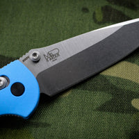 Benchmade Mini-Griptilian Satin Drop Point Edge With Blue Body 556-BLU-S30V
