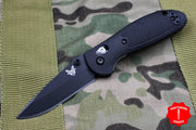 Benchmade Mini-Griptilian Black with Black Drop Point Blade 556BK