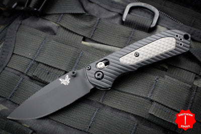 Benchmade Mini-Freek Black and Gray Handle with Black Plain Blade 565BK